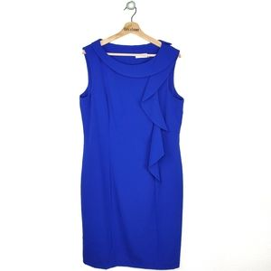 Calvin Klein Plus Size Blue Sheath Dress EUC 14
